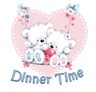 Dinner Time - ValentineBearsCouple2016