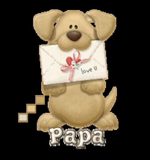Papa - PuppyLoveULetter