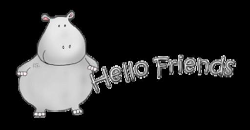 Hello Friends - CuteHippo2018
