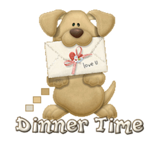 Dinner Time - PuppyLoveULetter
