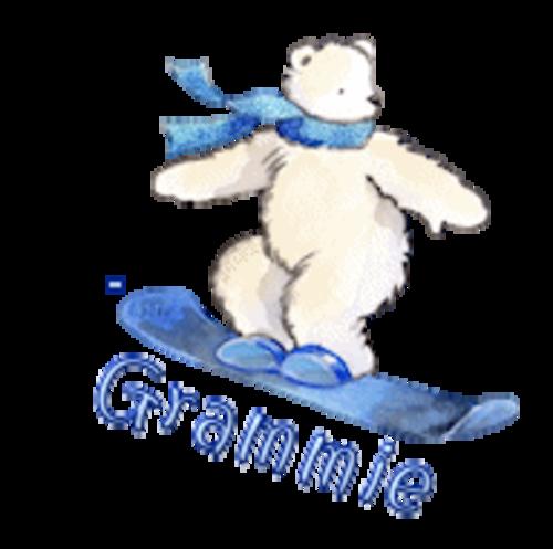 Grammie - SnowboardingPolarBear