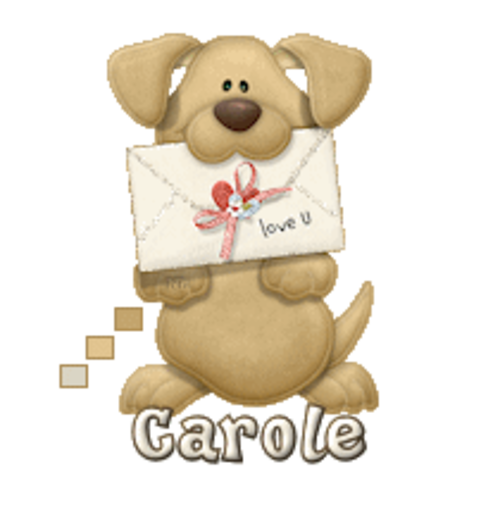 Carole - PuppyLoveULetter