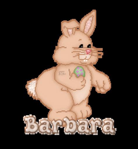Barbara - BunnyWithEgg