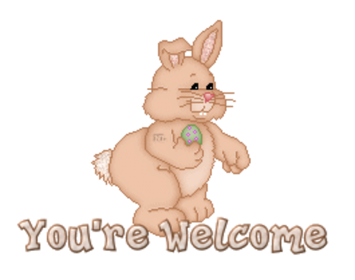 You're Welcome - BunnyWithEgg