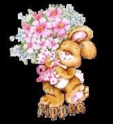 Yippee - BunnyWithFlowers