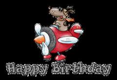 Happy Birthday - DogFlyingPlane