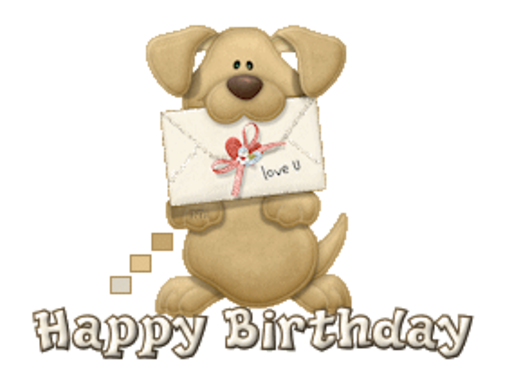 Happy Birthday - PuppyLoveULetter
