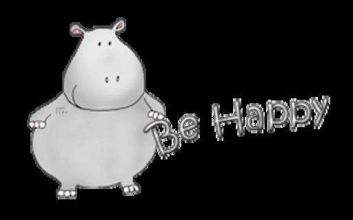 Be Happy - CuteHippo2018