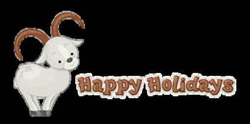 Happy Holidays - BighornSheep