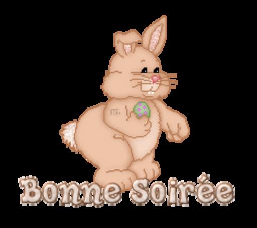 Bonne Soiree - BunnyWithEgg
