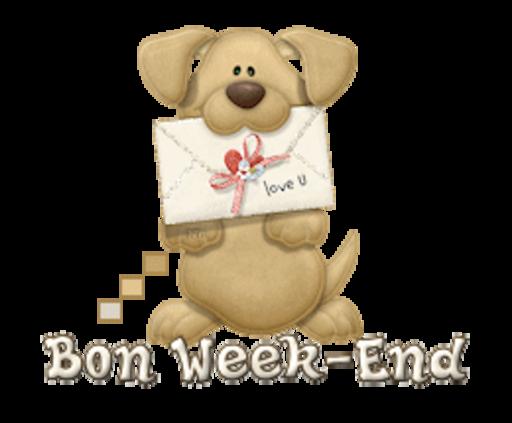 Bon Week-End - PuppyLoveULetter