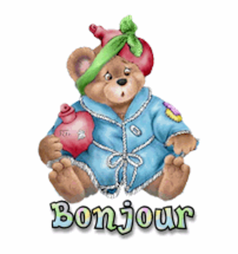Bonjour - BearGetWellSoon