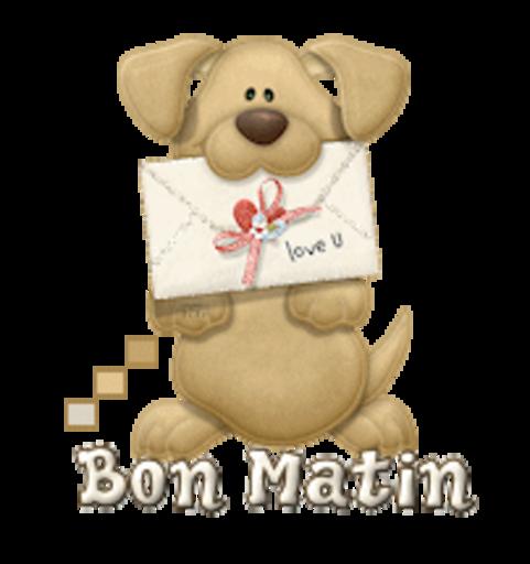 Bon Matin - PuppyLoveULetter