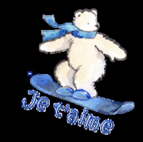 Je t'aime - SnowboardingPolarBear