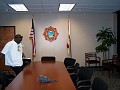 Radio Host Nene Jeudy@ the Fire Chief of Miami-Dade Fire Rescue Department  introduction to the Haitian community