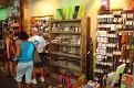 Tourists shopping in Bridgetown.