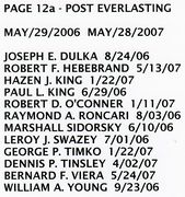 PAGE 12b - POST EVERLASTING - MAY 29, 2006-MAY 28, 2007
