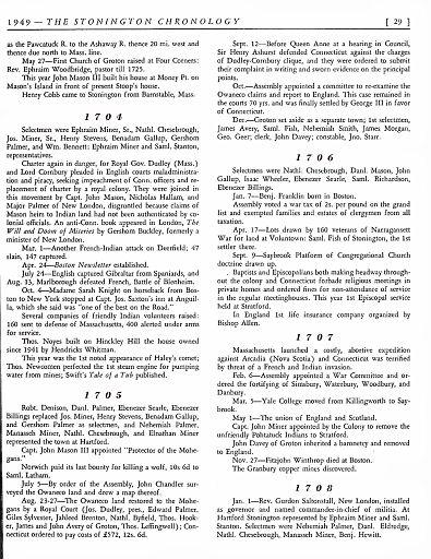 STONINGTON CHRONOLOGY - PAGE 029