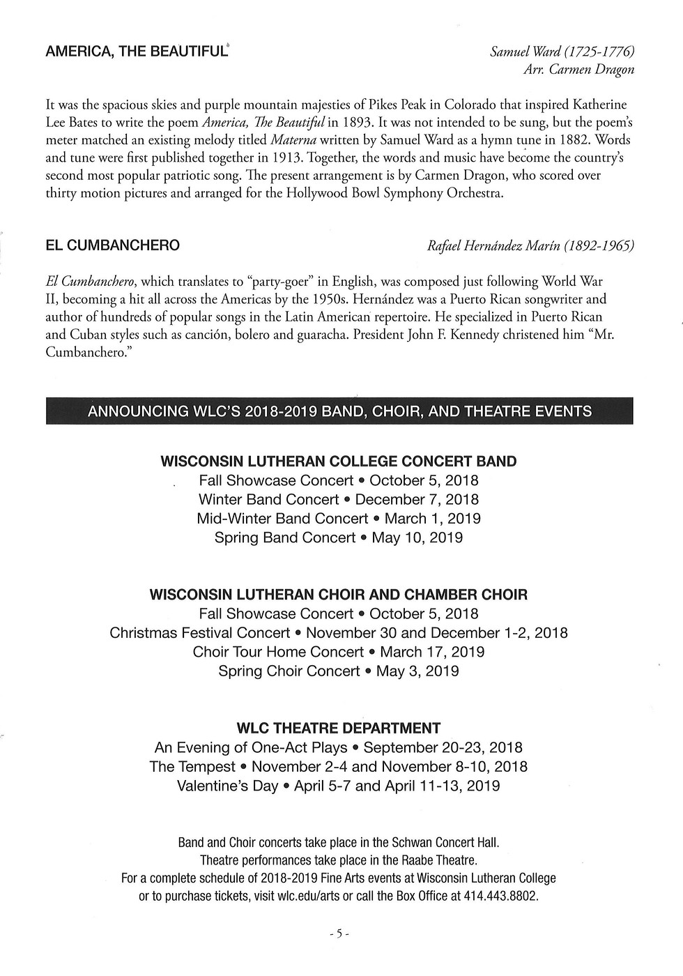 Photo: Concert Program (5) | 2018-WLC-Spring_Band_Concert