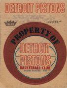 1974-75 Fleer Cloth Stickers Detroit Pistons (1)