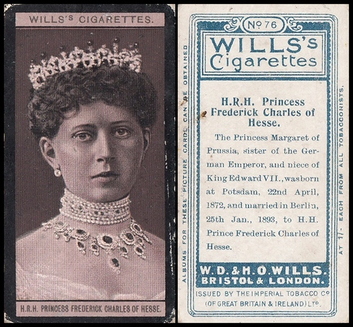 1908 Wills European Royalty #076