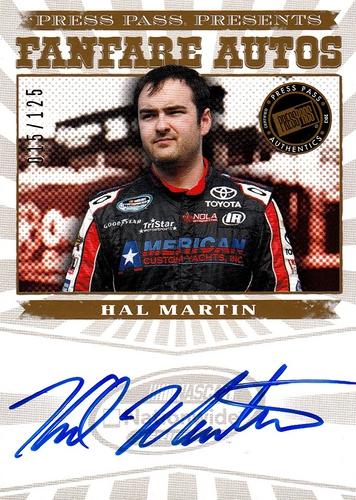 2013 Fanfare Autograph Gold Hal Martin (1)