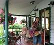Innkeeper JoAnn Lesh welcomes visitors