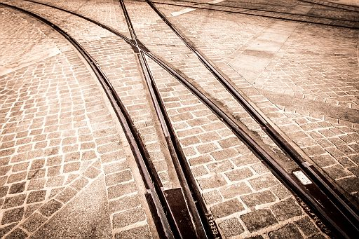 Tramway tracks