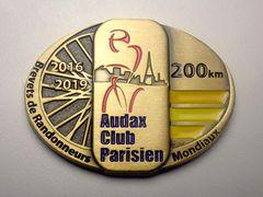 Medaille Brevet 200 km