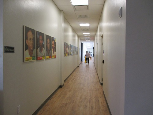 Hallway towards some offices and class rooms.
