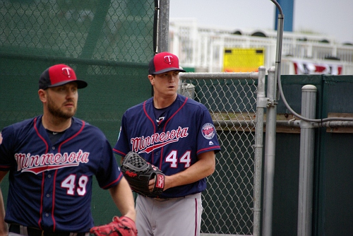 IMGP9741.JPG- 49 is Kevin Jepsen and 44 is Kyle Gibson