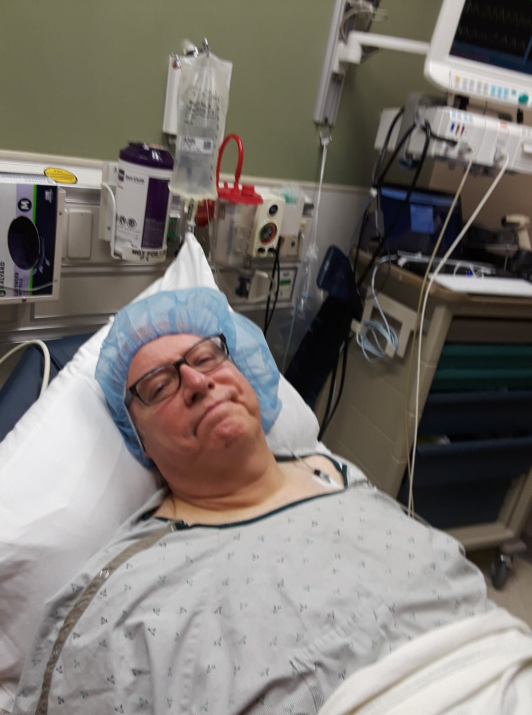shortly before surgery