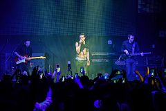 NEW YORK, NY - MAY 06: Russian singer Dima Bilan perform on the stage during his American concert tour at Stage 48 on May 06, 2016 in New York City.
