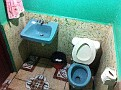 Remember!!!  Toilet paper does not go in the toilet!!!  Bad Plumbing effect in Central America.  It goes in waste paper basket.  Hmmm...