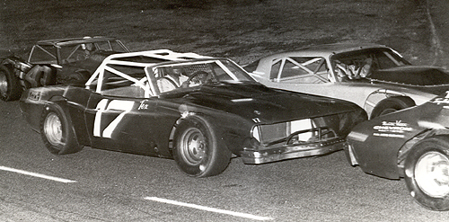 Gil Smith in a Dodge Challenger.