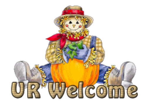 UR Welcome - AutumnScarecrowSitting