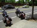 a couple of bikes & 57 Chevys