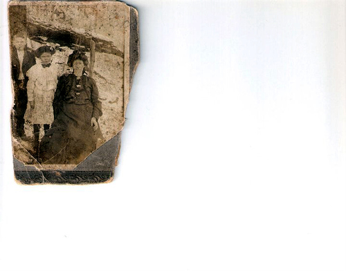47-Great Great Grandma Becky, Great Grandma Della and Walt Yancey-G-Grandma Della brother