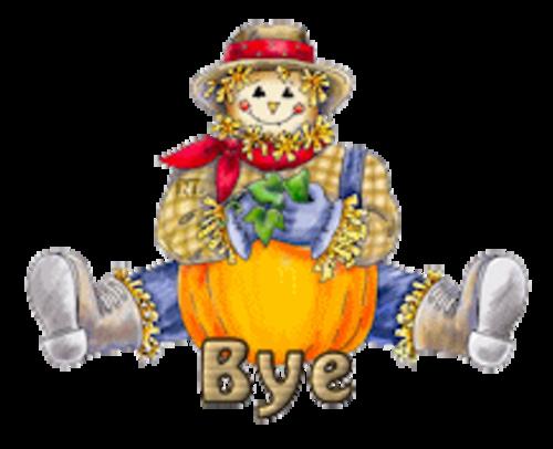 Bye - AutumnScarecrowSitting