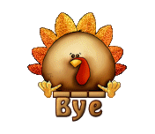 Bye - ThanksgivingCuteTurkey
