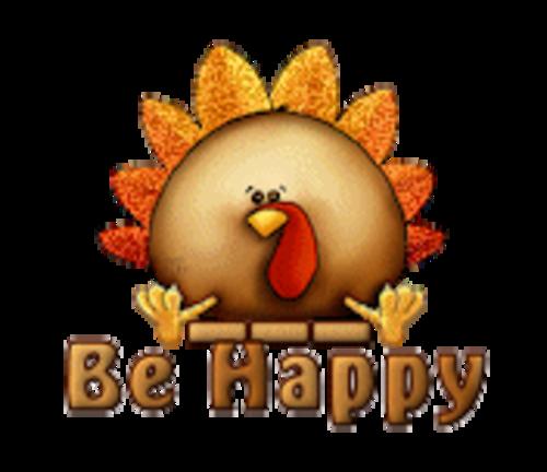Be Happy - ThanksgivingCuteTurkey
