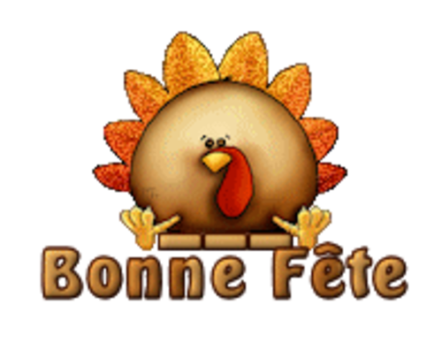 Bonne Fete - ThanksgivingCuteTurkey