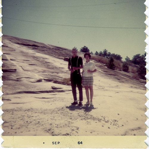 Billy and Pat Austin at Stone Mountain GA. Sep 1964