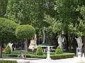 More of the garden area in the Plaza de Oriente