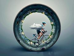 The world is moving around your bike