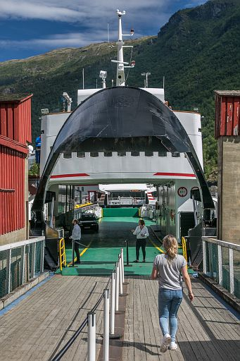 Ferry boat in Flam, Norway