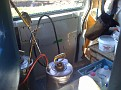 Friday November 20 2009 1:31 PM.  BUSY DAYS.   Running a pest control route.  Lunch in my service truck.