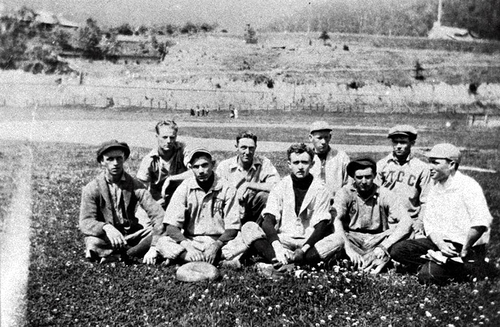 BASEBALL TEAM AT NORMA, about 1916