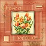 tulip frame happy day