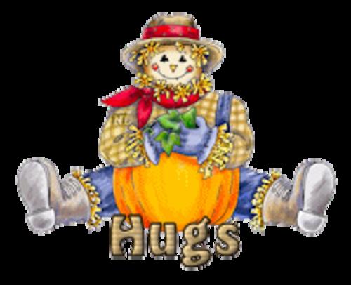 Hugs - AutumnScarecrowSitting